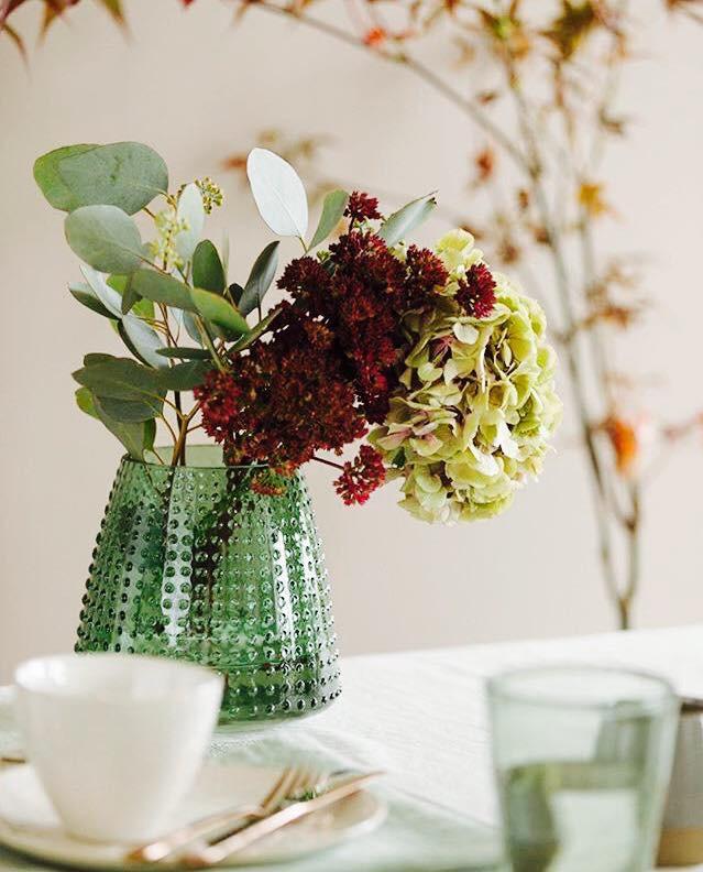 Blomstervase med blomster
