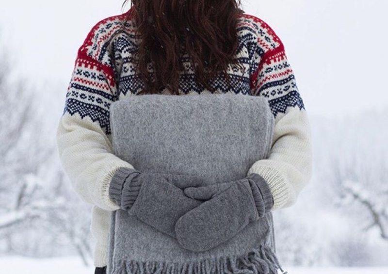 Snø og kaldt ute!